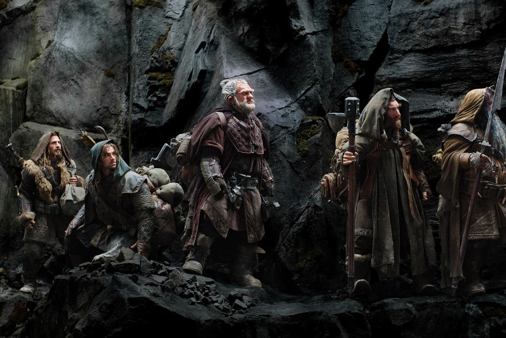 """(L-r) DEAN O'GORMAN as Fili, AIDAN TURNER as Kili, Mark Hadlow as Dori, Jed Brophy as Nori and WILLIAM KIRCHER as Bifur in New Line Cinema's and MGM's fantasy adventure """"THE HOBBIT: AN UNEXPECTED JOURNEY,"""" a Warner Bros. Pictures release."""